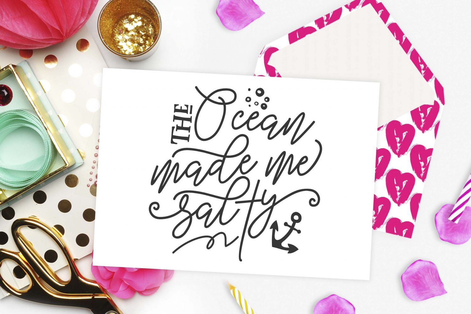 The Ocean Made Me Salty Svg Dxf Png Eps ⋆ Theblackcatprints