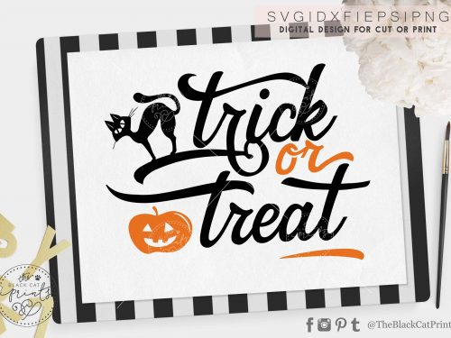 Trick or Treat svg - TheBlackCatPrints