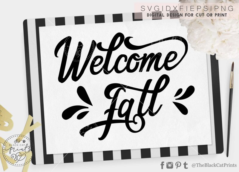 Welcome Fall svg