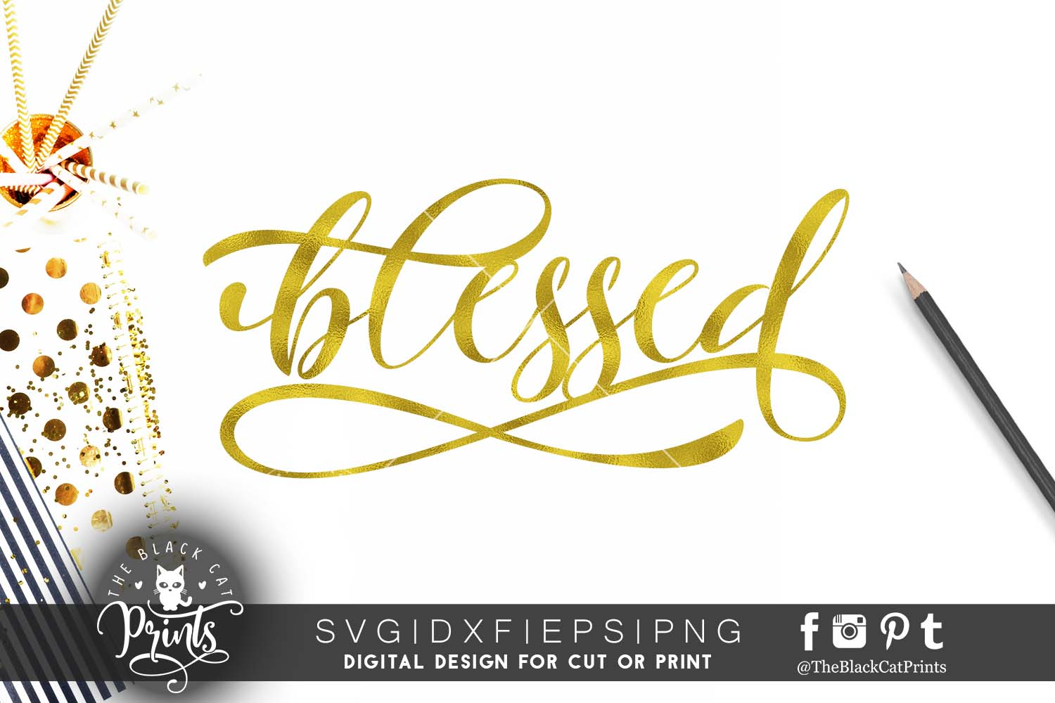 Blessed Svg Dxf Png Eps Theblackcatprints
