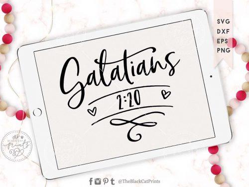 Galatians 2:20 svg
