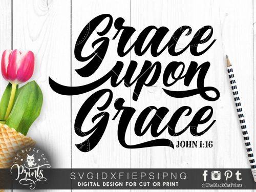 Grace upon Grace SVG