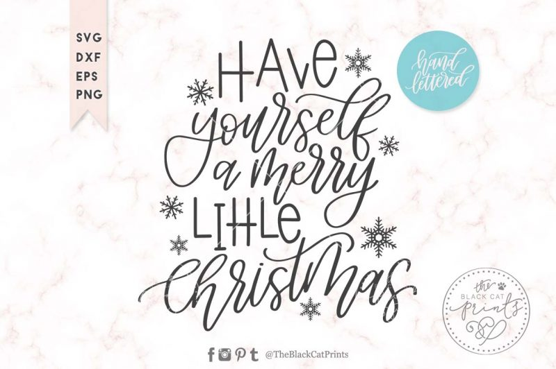 Merry little Christmas svg