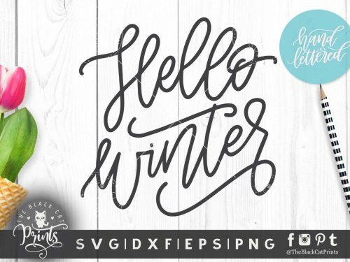 Hello winter SVG