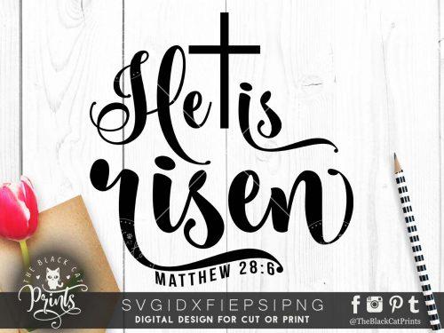 He is risen SVG