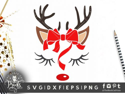 Cute Reindeer face SVG