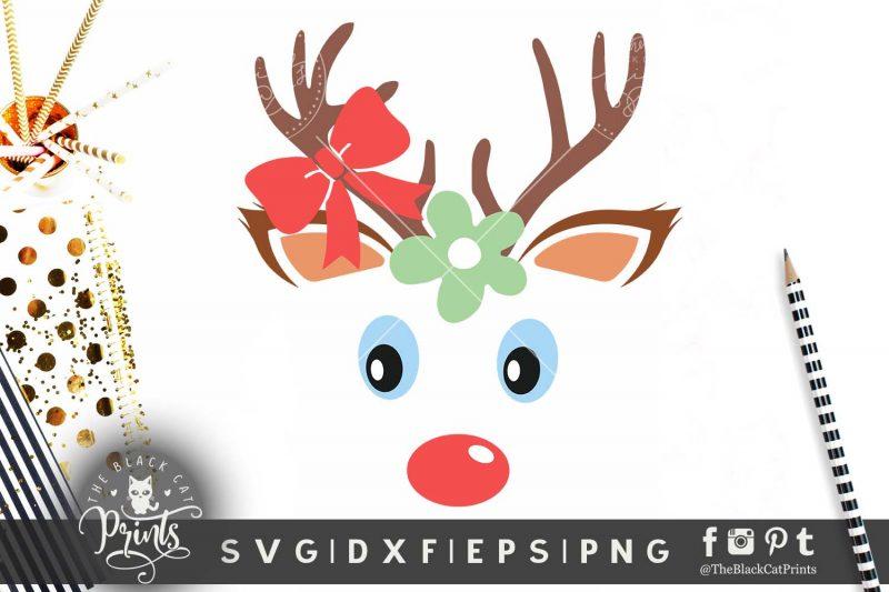 Baby Reindeer face SVG