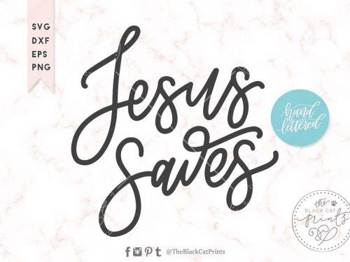 Jesus saves svg
