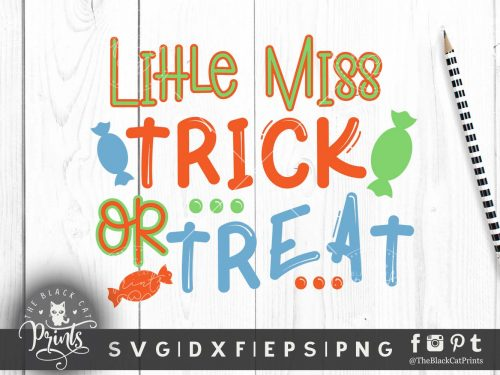 Little miss Trick or Treat SVG