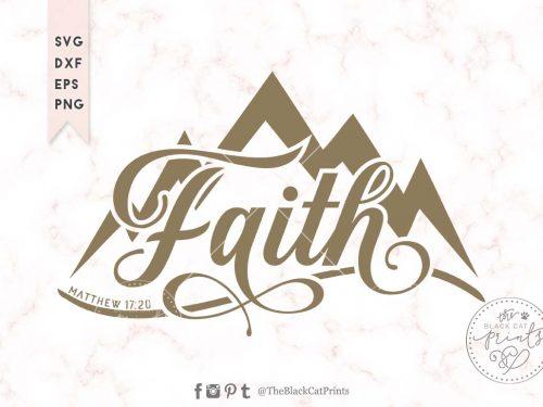 Faith Mountain svg Matthew 17:20