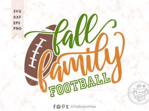 Fall Family Football svg