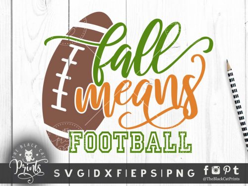 Fall Means Football SVG