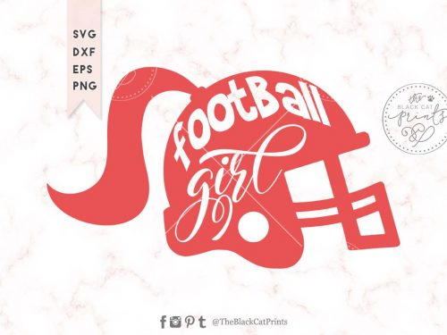 Football girl svg
