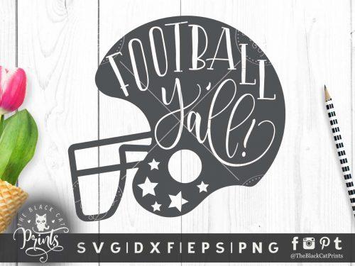 Football Y'all helmet SVG