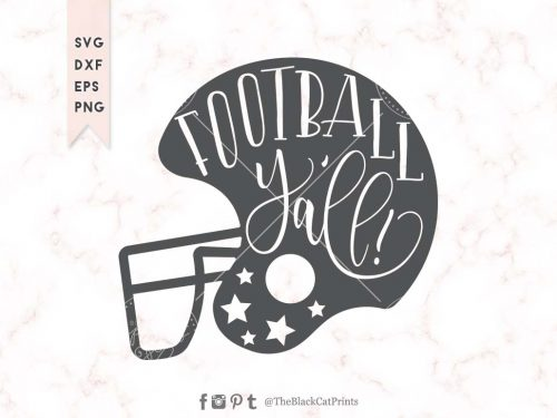 Football Y'all Helmet svg