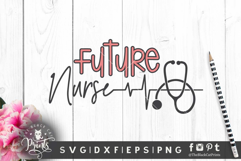 Nurse Christmas Svg.Future Nurse Svg Dxf Png Eps