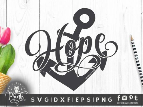 Hope Anchor Hebrews 6:19 SVG