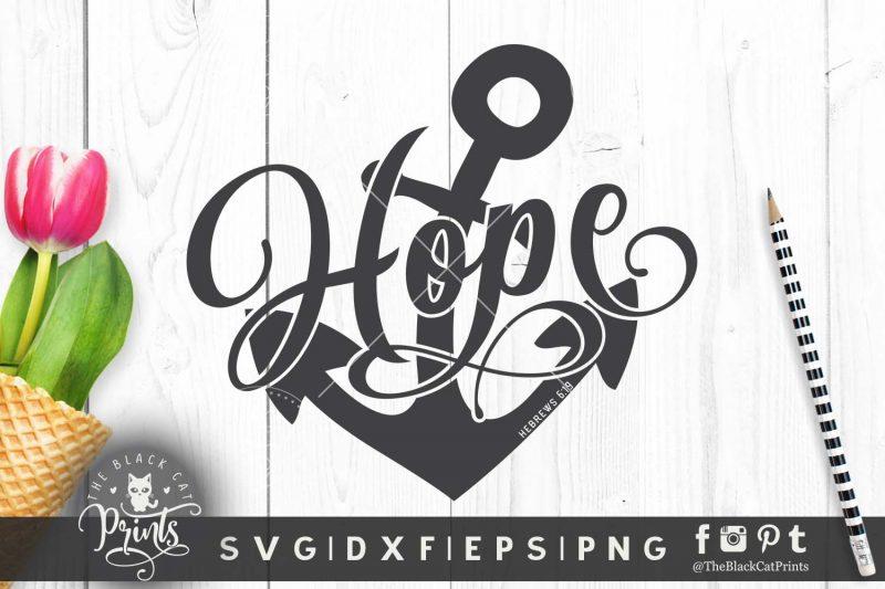 Hope Anchor Hebrews 6:19 SVG