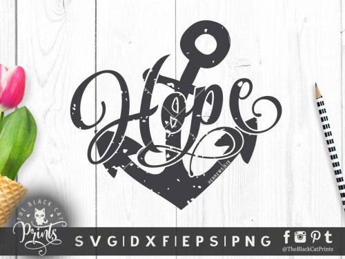 Hope Anchor Hebrews 6:19 Distressed SVG