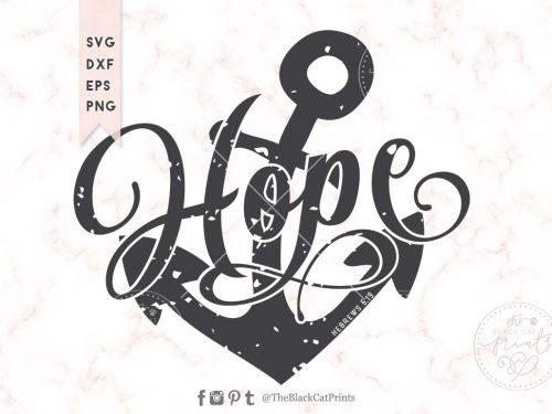 Hope Anchor Hebrews 6:19 Distressed