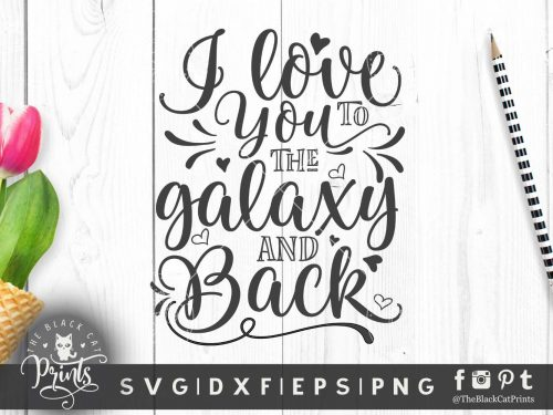 I love you to the Galaxy and back SVG