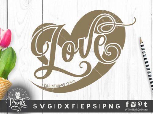 Love heart svg