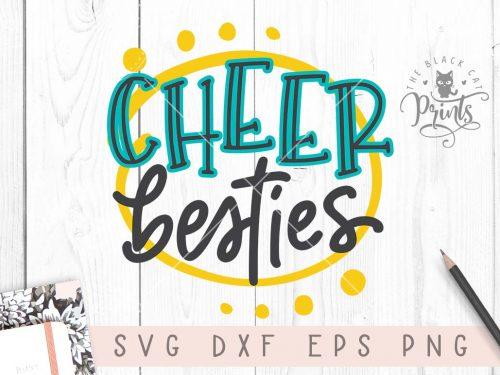 Cheer besties svg