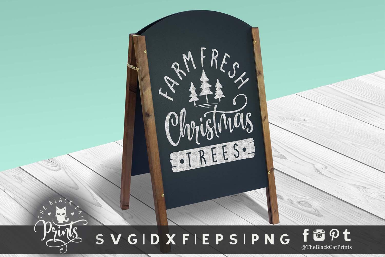 Farm Fresh Christmas Trees Svg.Farm Fresh Christmas Trees Svg Dxf Png Eps