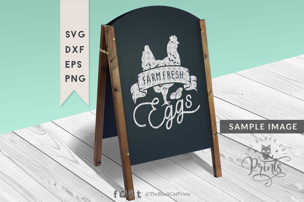 Farm fresh eggs svg