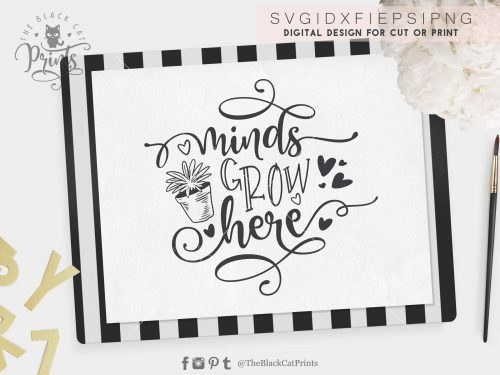 Minds grow here svg