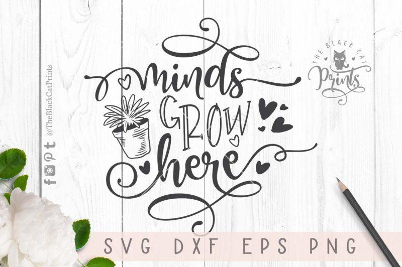 Minds grow here svg