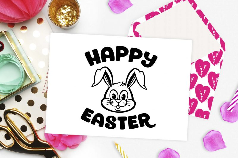 Happy Easter bunny svg