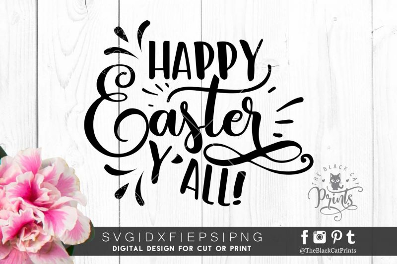 Happy Easter Yall svg
