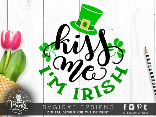 Kiss me I'm Irish svg