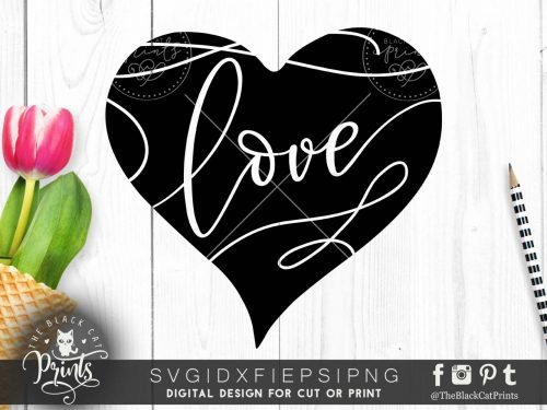 Love & Heart svg