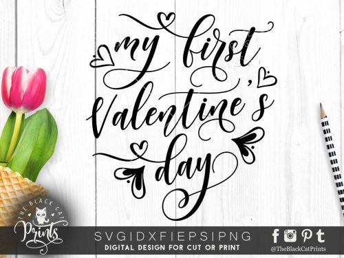 Valentine S Day Svg Cut Files Theblackcatprints