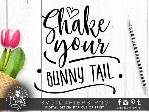 Shake your bunny tail SVG