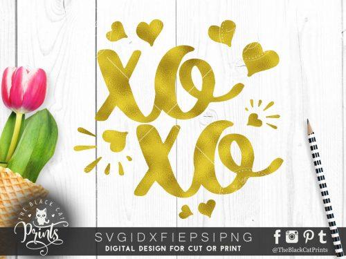 XOXO | Hugs and kisses SVG