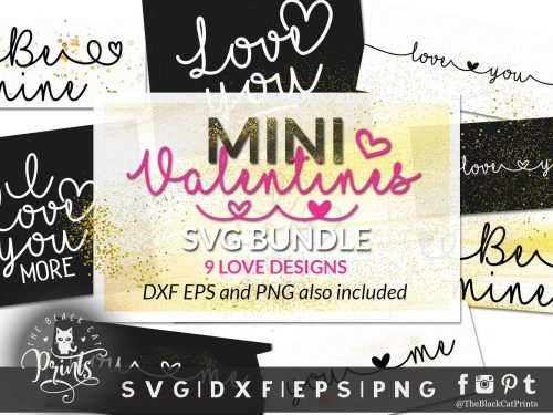 Mini Valentines bundle svg