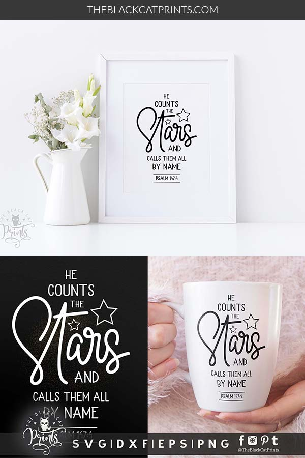 He counts the Stars, Psalm 147:4 SVG