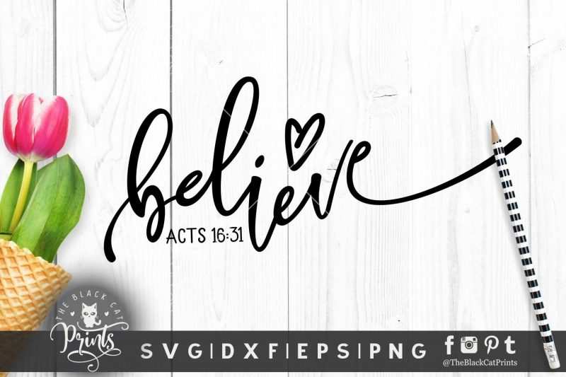 Believe Acts 16:31 svg