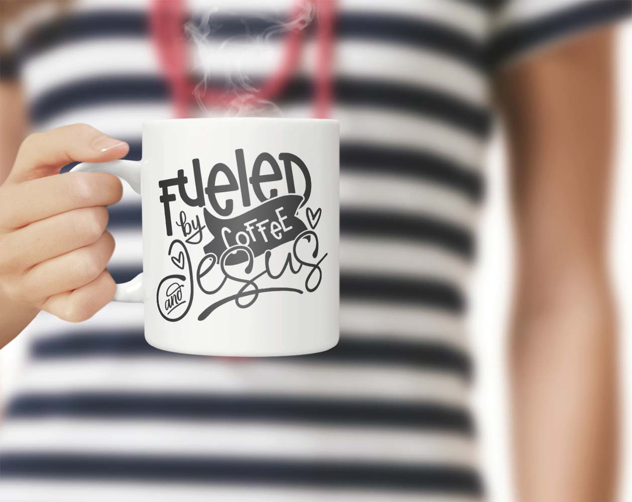 Fueled By Coffee And Jesus Svg Dxf Png Eps Theblackcatprints