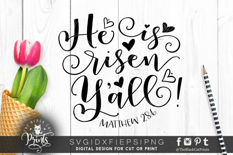 He is Risen Yall! svg