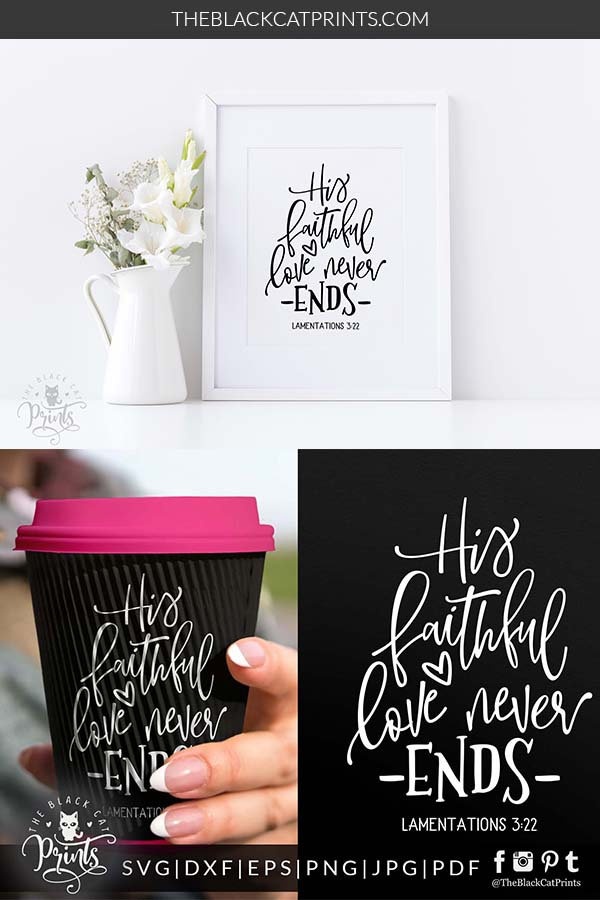 His Faithful Love, Lamentations 3:22 SVG