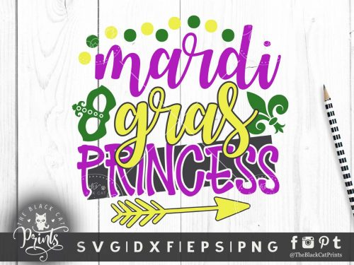 Mardi gras princess svg