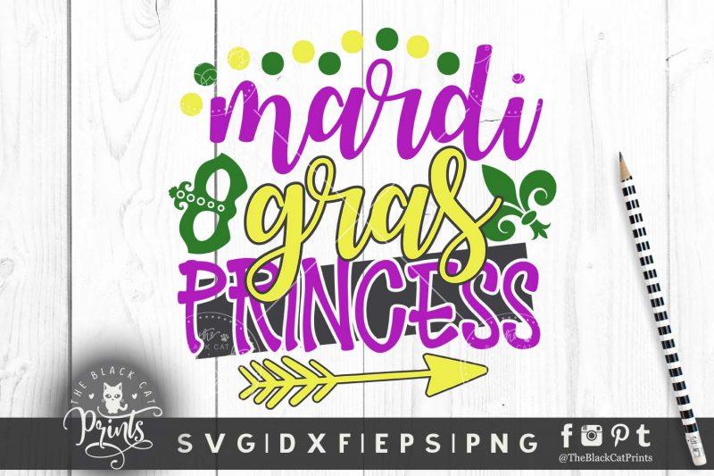 Mardi gras princess svg