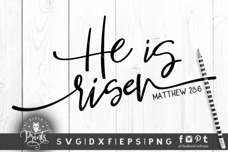 He is risen, Matthew 28:6 svg