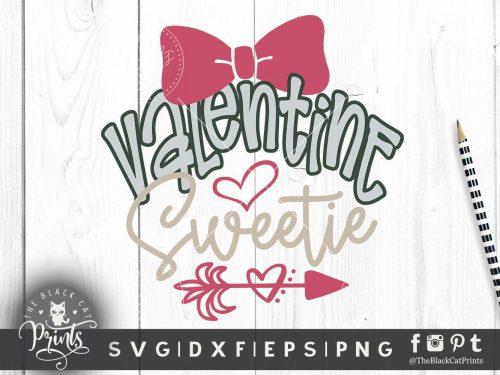 Valentine sweetie svg