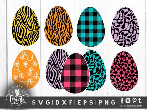 Easter clipart eggs svg