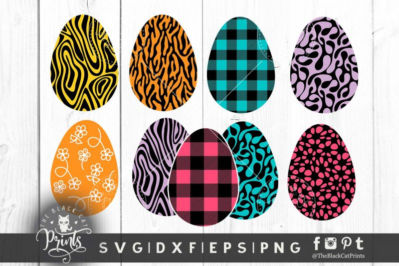 Easter clipart eggs svg